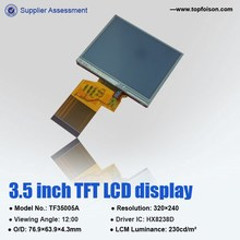 cheapest 240*320 3.5'' lcd display panel screen with resistive touch panel HX8238D for handheld device