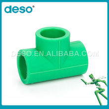 High Grade Made In China Different Colors Ppr Pipe Fittings Equal Tee