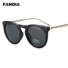 276 ewfdy Korea retro large round frame sunglasses influx of men and women face repair metal temples sunglasses wild glasses