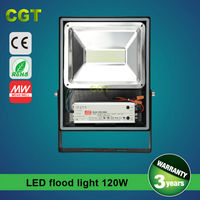 new led flood light 150w Meanwell driver waterproof IP65 CE Rohs certificated 3 years warranty