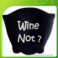 2016 Newest Design Neoprene Insulated Wine Glass Cup Holder With Strap