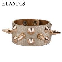 2014 moda in pelle per fare braccialetti rivetto braccialetto in pelle