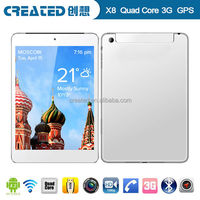 """high end tablet 7.85"""" pc 3g tablet android4.2 gps tablet"""