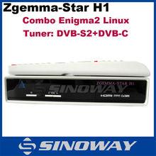 Originale zgemma- Star h1 digitale hd sab ricevitore dvb- s2+dvb- c sintonizzatore enigma2 Linux zgemma h1 fabbrica