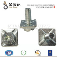 carbon steel sems screws with square washer for office table in Dongguan