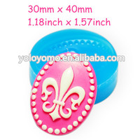 CYL171 Cameo Cabochon 40x30mm Mold Bakery Flexible Chocolate Silicone Cookie Deco Cupcake Phone Case Food Safe Fimo Mould