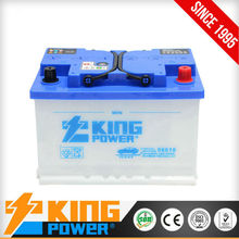 DIN Dry charged auto batteries 56618 12V66AH King Power for sale