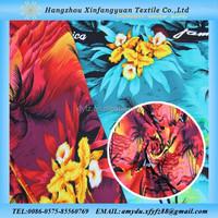 sea island rayon printed fabric with pacific island design