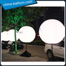 Adjustable tripod led stand balloon, inflatable led balloon light, inflatable stand ball for sale