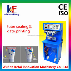 cosmetic plastic tube making machine sealing machine