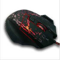 2400DPI Both hands orientation and wired type led light gaming mouse