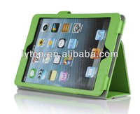 high quality flip leather wallet cover case for tablet ipad mini 1 2 3