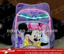 2014 new design led flashing school bag for kids