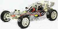 29cc 4 Bolt engine Baja 5B/rc car/Steel Roll Cage + Tunepipe + All Terrain Tyres w/Chrome Poison Wheels + Extend axle +2.4G RTR