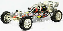 29cc 4 Bolt engine Baja 5B/rc car/Steel Roll Cage + Tunepipe + All Terrain Tyres w/Chrome Poison Wheels + Extend axle +2.4G RTR