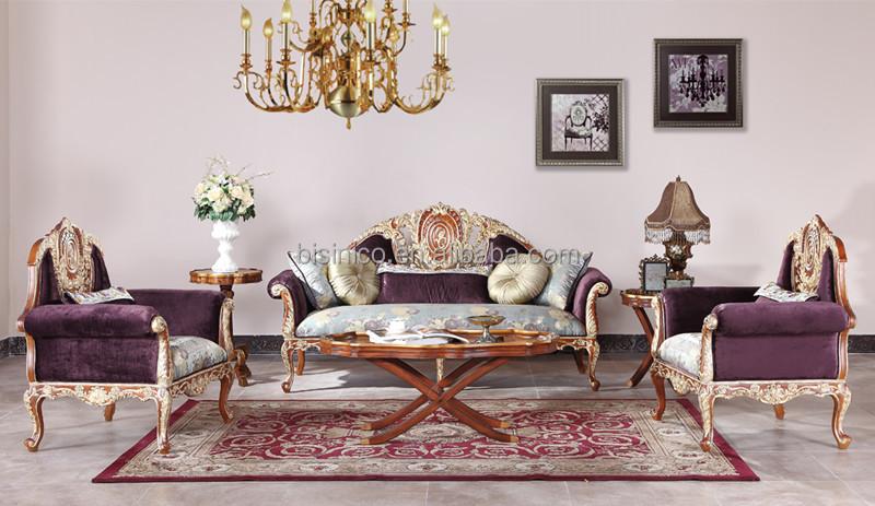 Inglês mobiliário vintage, sala de estar pintura ouro conjunto de ...
