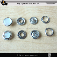 Metal five parts prong spring snap button