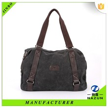 custom camping embossed leather canvas vanity bag for mom