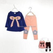 autumn baby girl 2015 wholesale child clothing sets