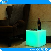 glowed led cube seat.7.5V/1A ,inductive charging flash led cube.led bar cube for anywhere to decorating