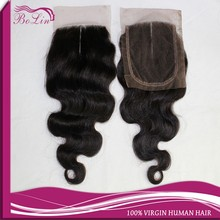 """4*4 middle part closure 6A virgin indian hair top closure 8""""-20"""" large stock"""