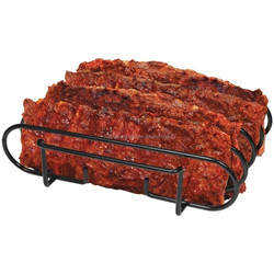 Rib Rack for Outdoor Bbq Grilling, Barbecue Storage for Grill Ribs