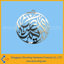 High quality fashionable whole etching free tooling metallic ornament