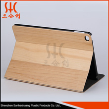 Wholesale china factory Original wood leather flip wooden cover tablet cases for ipads
