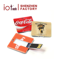 2GB Alibaba Gold Supplier Factory Made Promotional Square Card Flash Drive