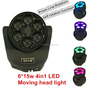 china moving head light! 6*15w 4in1 led small moving head light