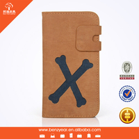 PU leather flip phone case for samsung s4