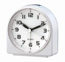 Simple design On/Off on top desk analog alarm clock