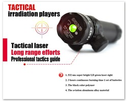20mw adjustable green laser sight for hunting & shooting with picatinny mount