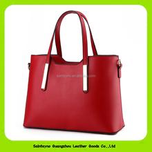 15599 China manufacture lady tote leather bag waterproof women handbag