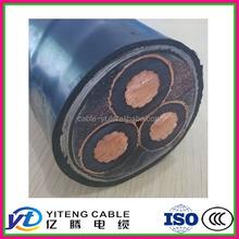 XLPE insulated PE / PVC Jacket STA /SWA armoured medium voltage AC 8.7/ 11KV Cu/ aluminum electrical cable