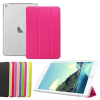 New Design leather stand smart back cover case for iPad mini 4 tablet case, with clear back cover