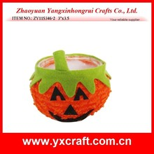 "Halloween decoration (ZY11S346-2 3''x3.5"") pumpkin plastic Halloween bowl container"