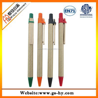 2014 hot selling plastic ball pen with paper inside and wooden clip