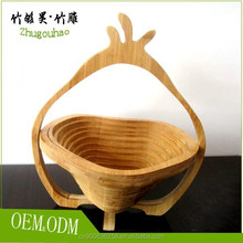 Fashionable hand made bamboo basket