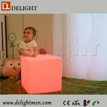 led cube light solar light/ kids cube chair/ table and chair for coffee shop