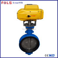 electric operated wafer butterfly valve cast iron butterfly valve
