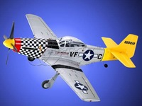 model airplane p-51500Class P-51D Mustang R/C Model Airplane can last a long time in the sky