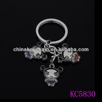 Funny cartoon baby doll keyring hot sale China wholesale keychain