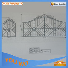steel post base plate for iron steel/iron gate/door supplier/manufacturer