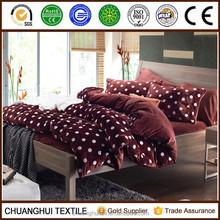2015 NEW PRODUCT Super soft Velvet two sides comforter printed bedding set