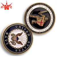 Gold Novelty Coin For Navy Challenge Hard Enameled Coin