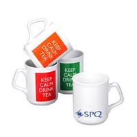 promotional budget colored wake up drinking coffee mug
