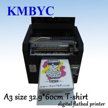 a3 size 6 colors digital flatbed t shirt flat bed printing machine