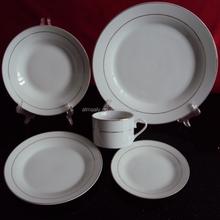 coupe ceramic porcelain 20pcs dinner set with GGK
