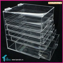 China Suppliers Wholesale Gift Items For Resal Clear Acrylic Makeup Storage Box, Clear Plastic Storage Box With Lid